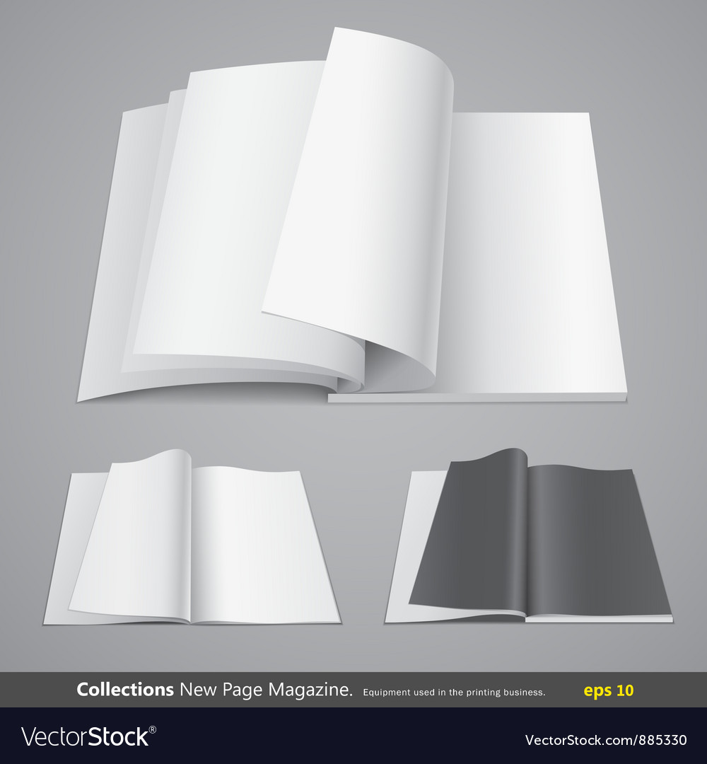 Collections new page magazine vector