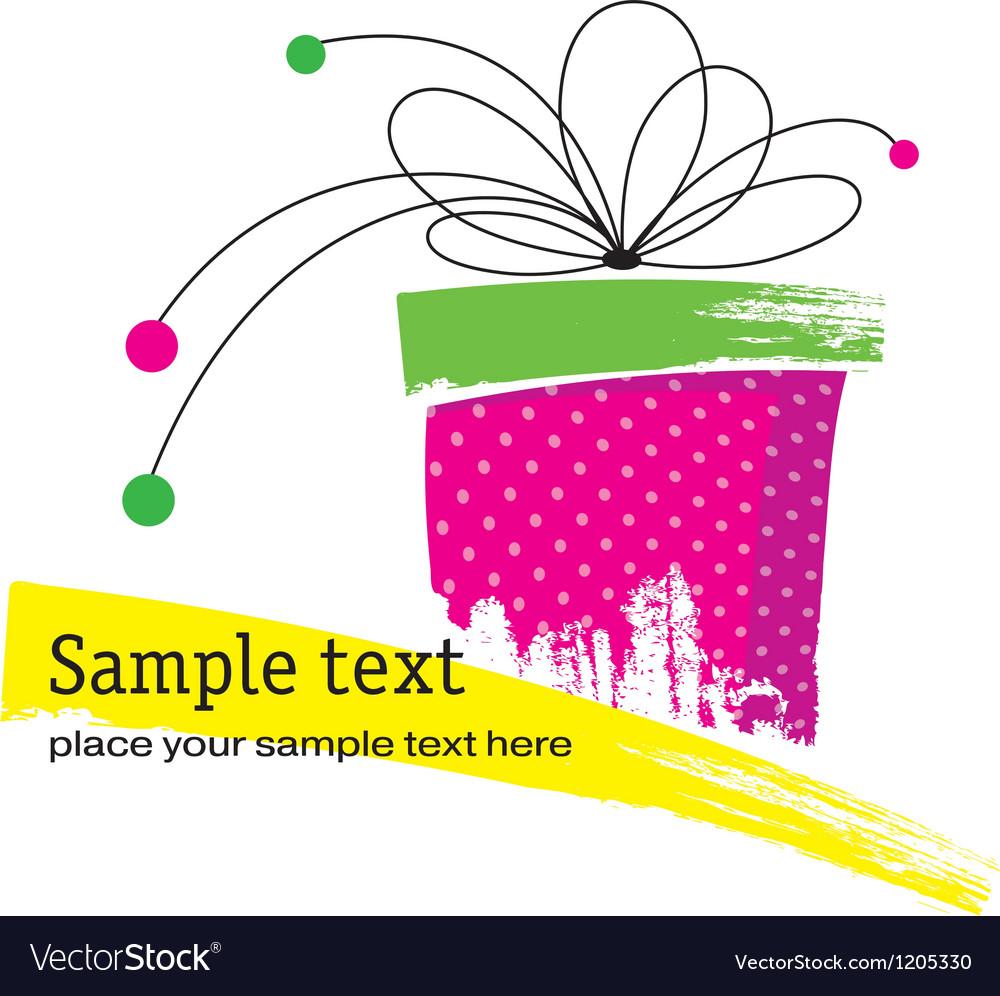Grunge gift box vector
