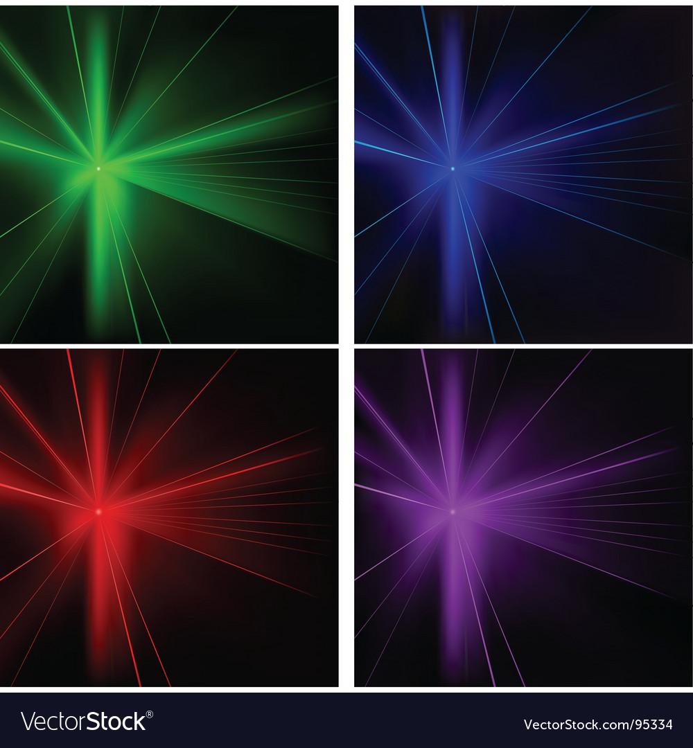 Disco lights set vector