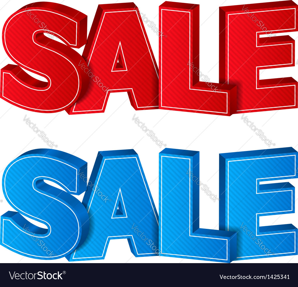 3d sale vector