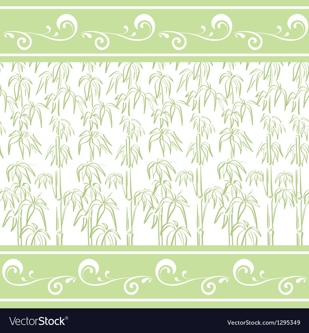 Contour bamboo and abstract pattern vector