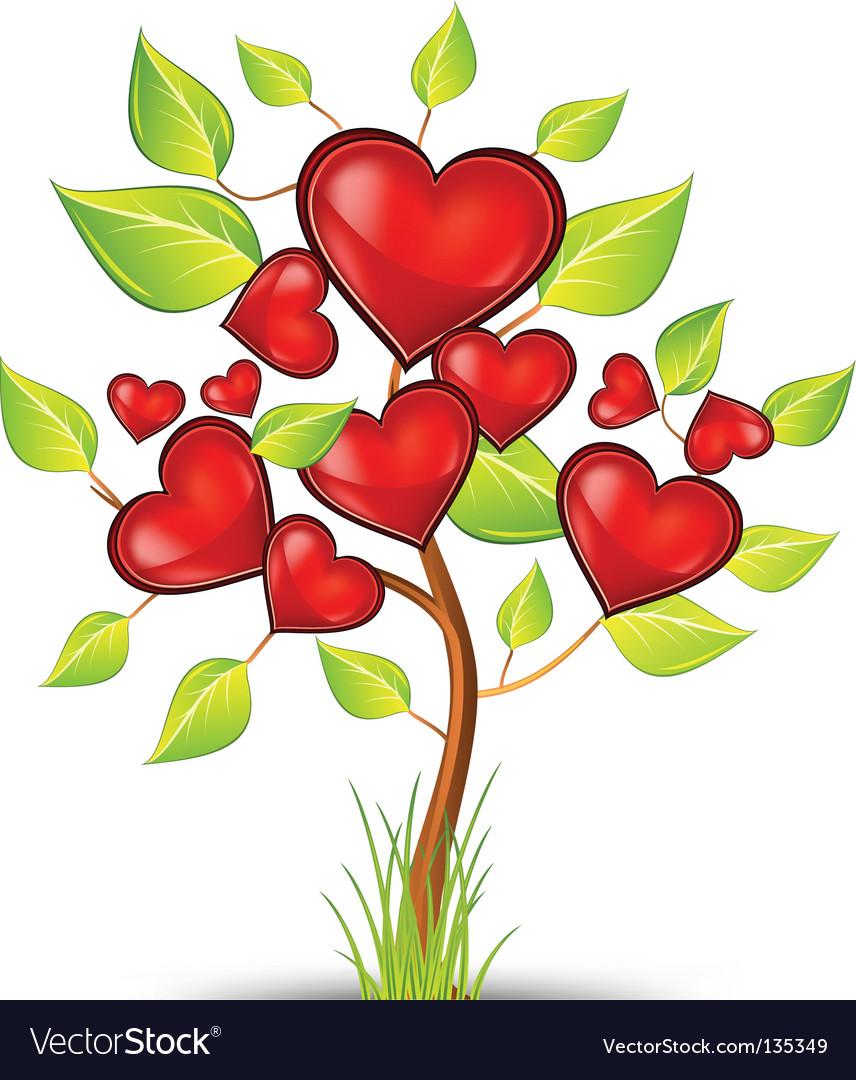 Tree of hearts vector