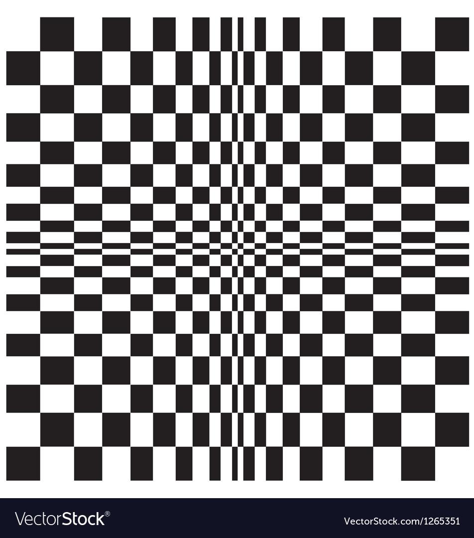 Chequerboard design vector