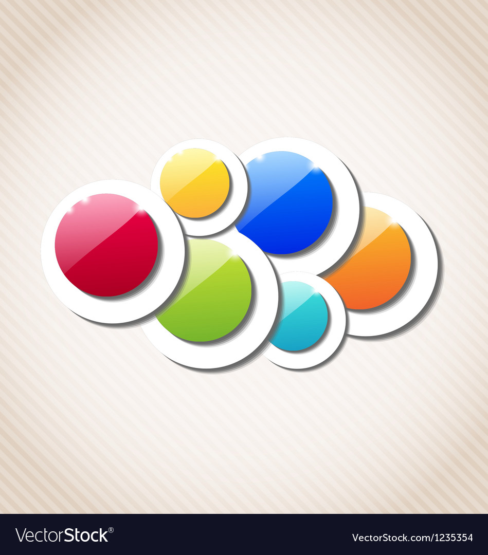 Abstract background with set of multicolor circle vector