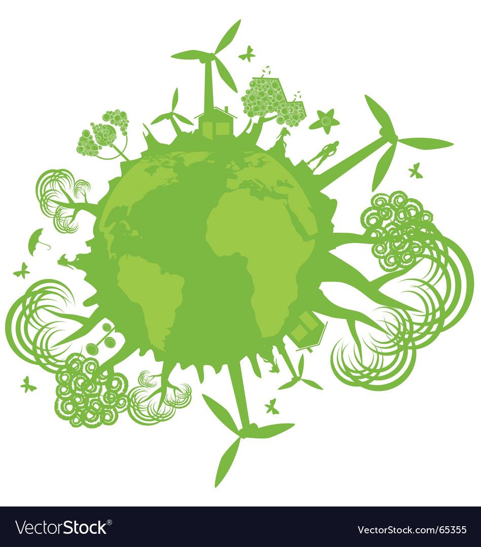 Environmental concept vector