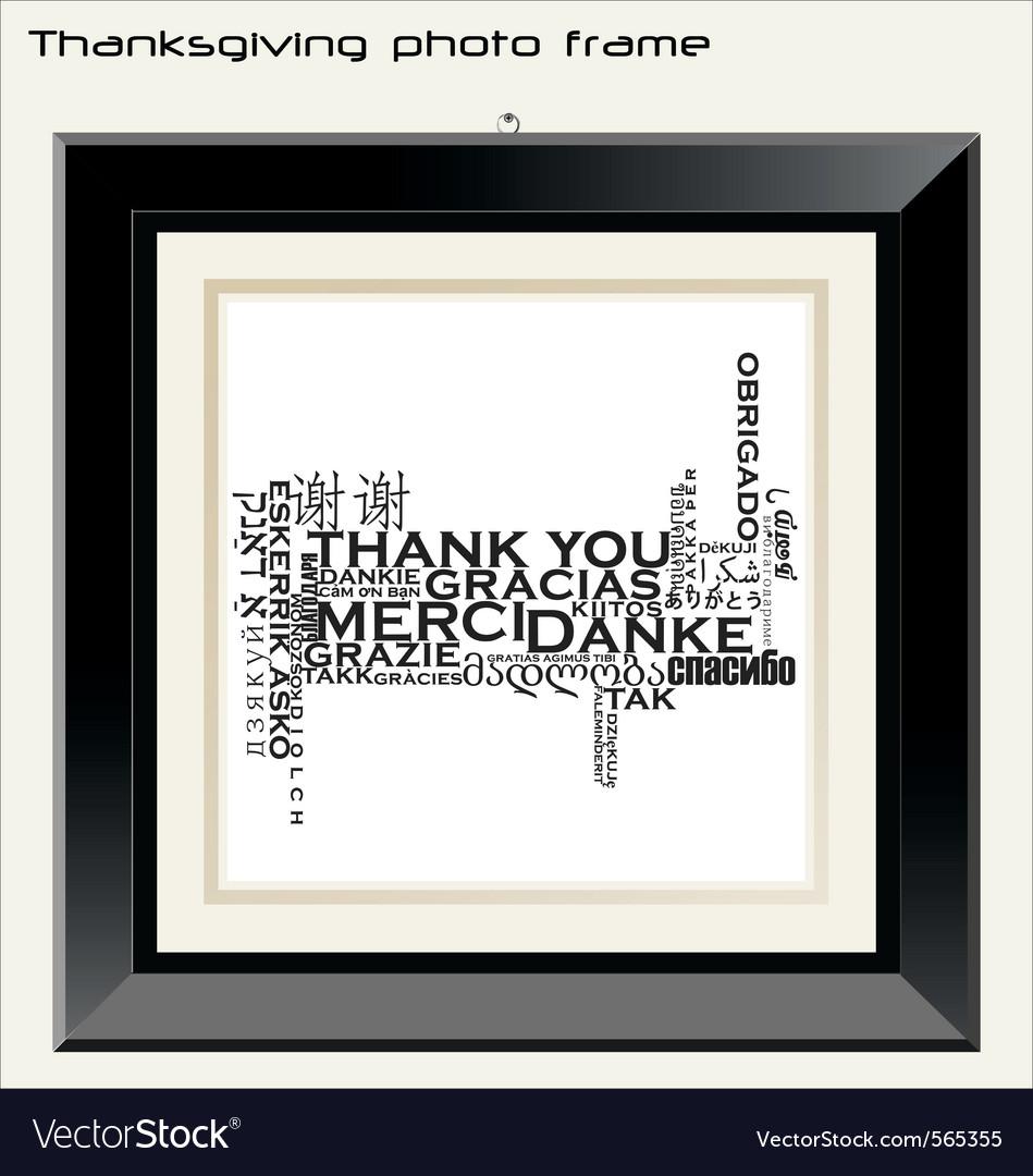 Thanksgiving photo frame vector