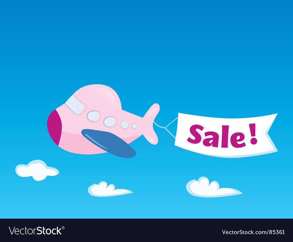 Flight sale vector
