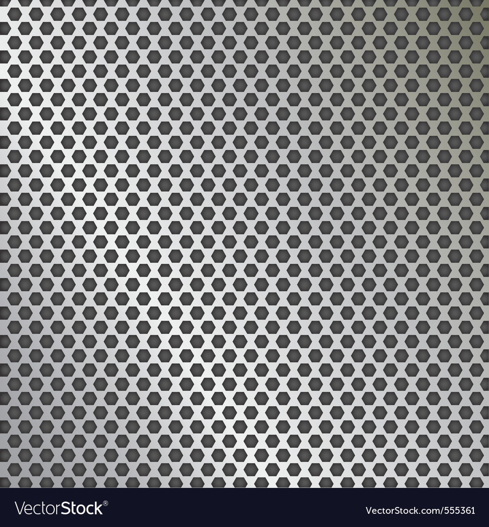 Metal texture pattern with holes vector