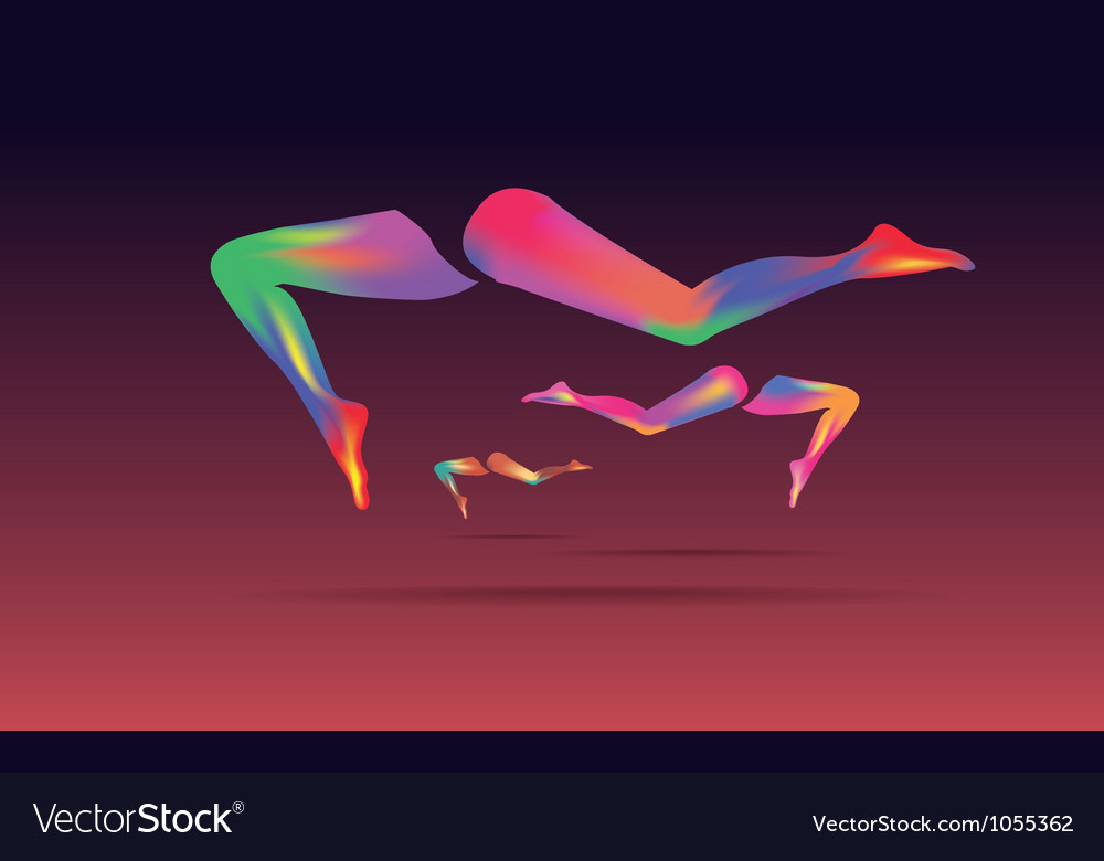 Abstract leg art vector