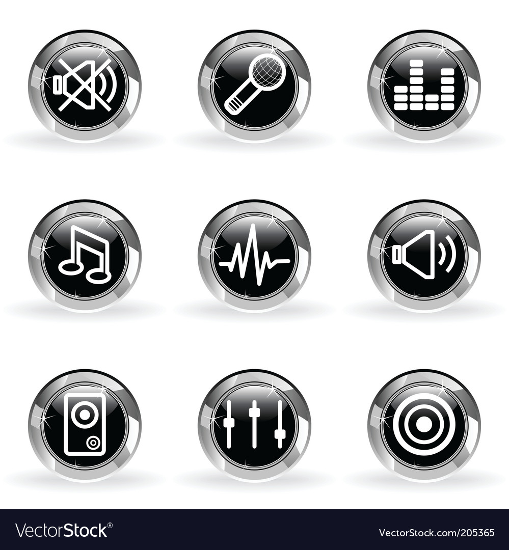 Glossy icon set vector