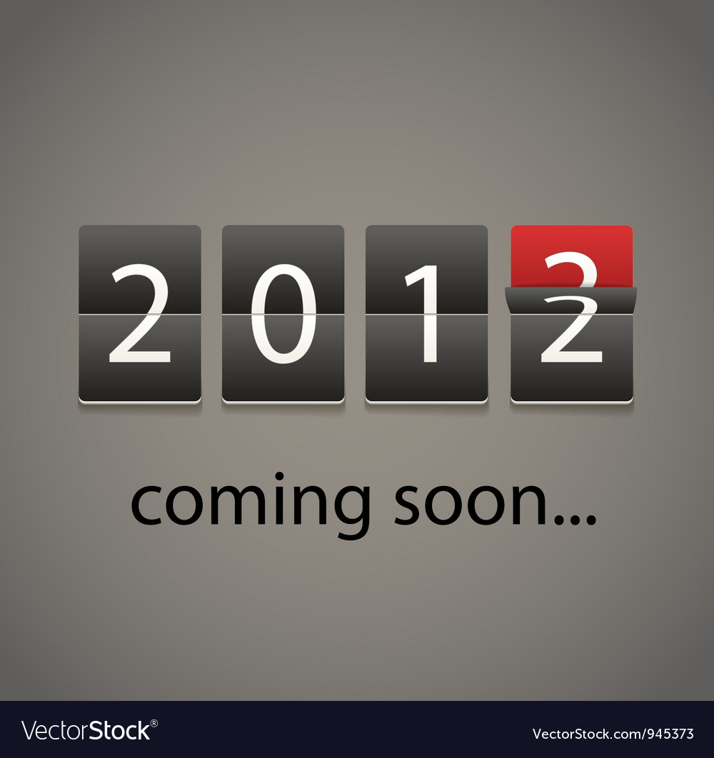 2013 coming soon paper board vector