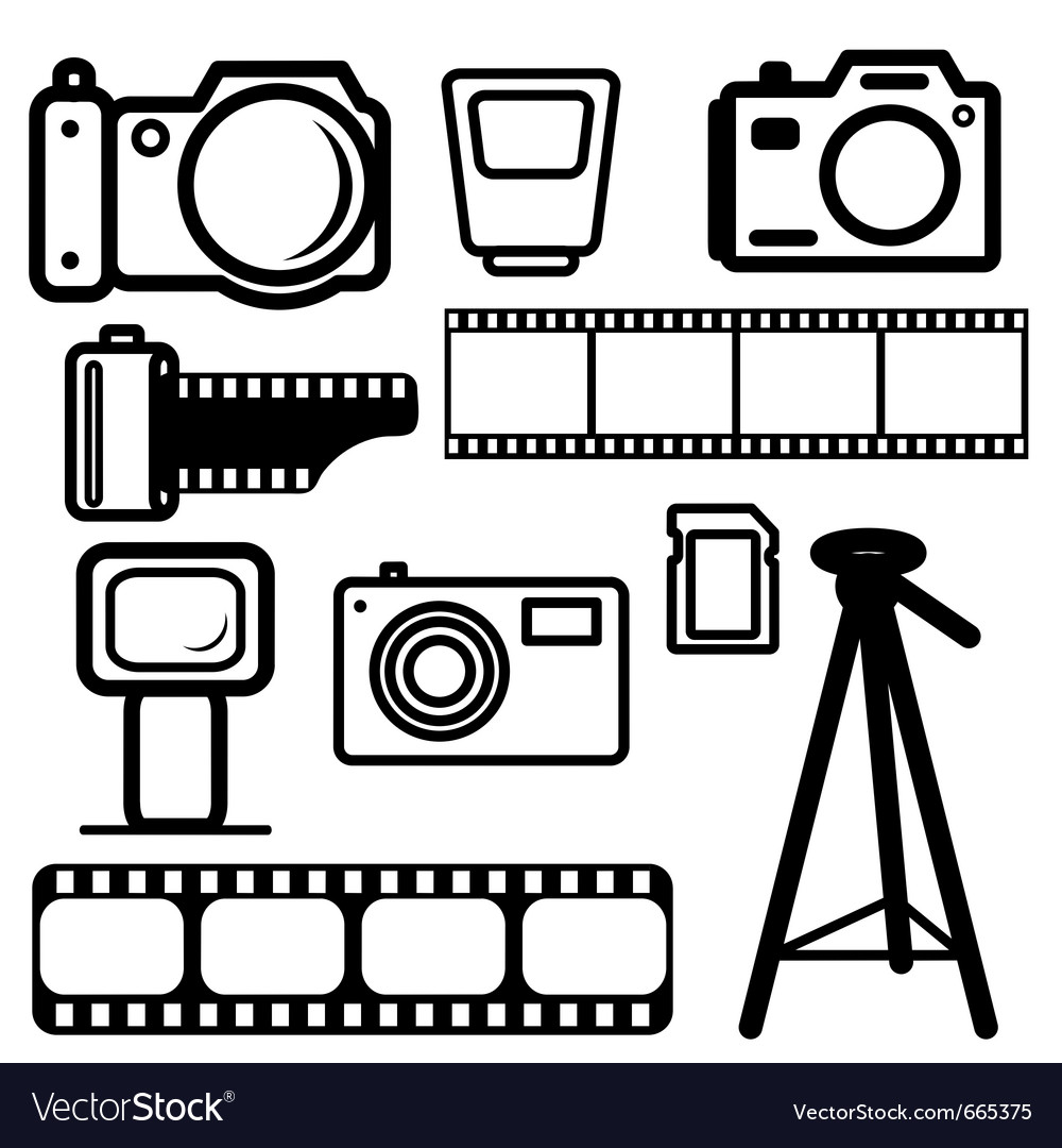 Camera design elements vector