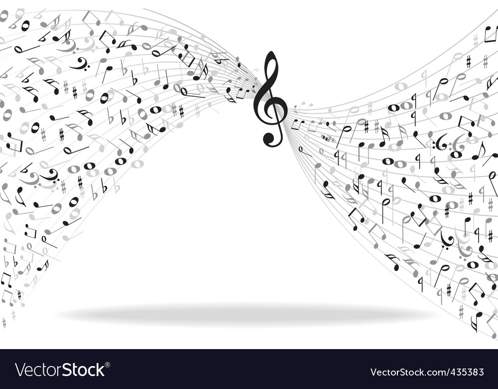 Music notes background vector