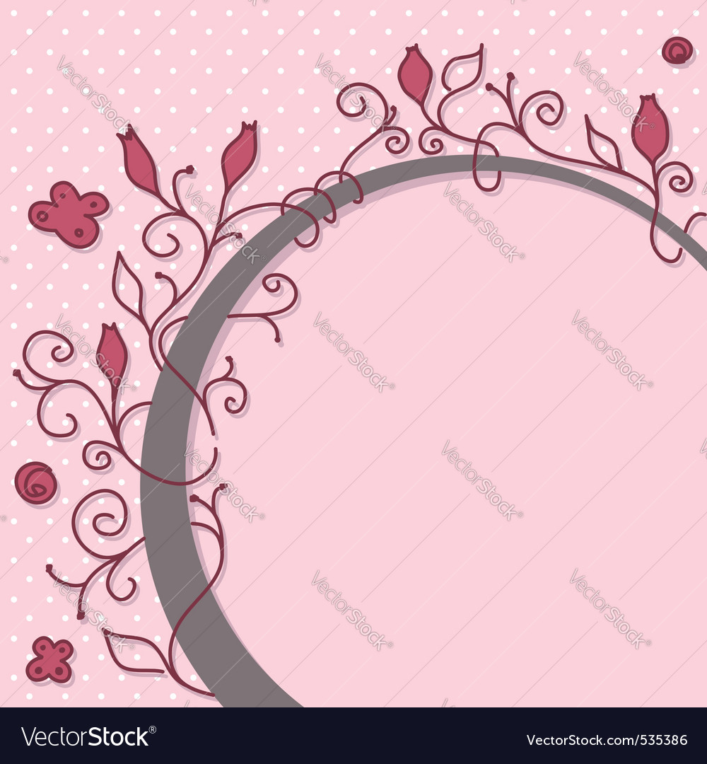 Cute girly floral frame vector