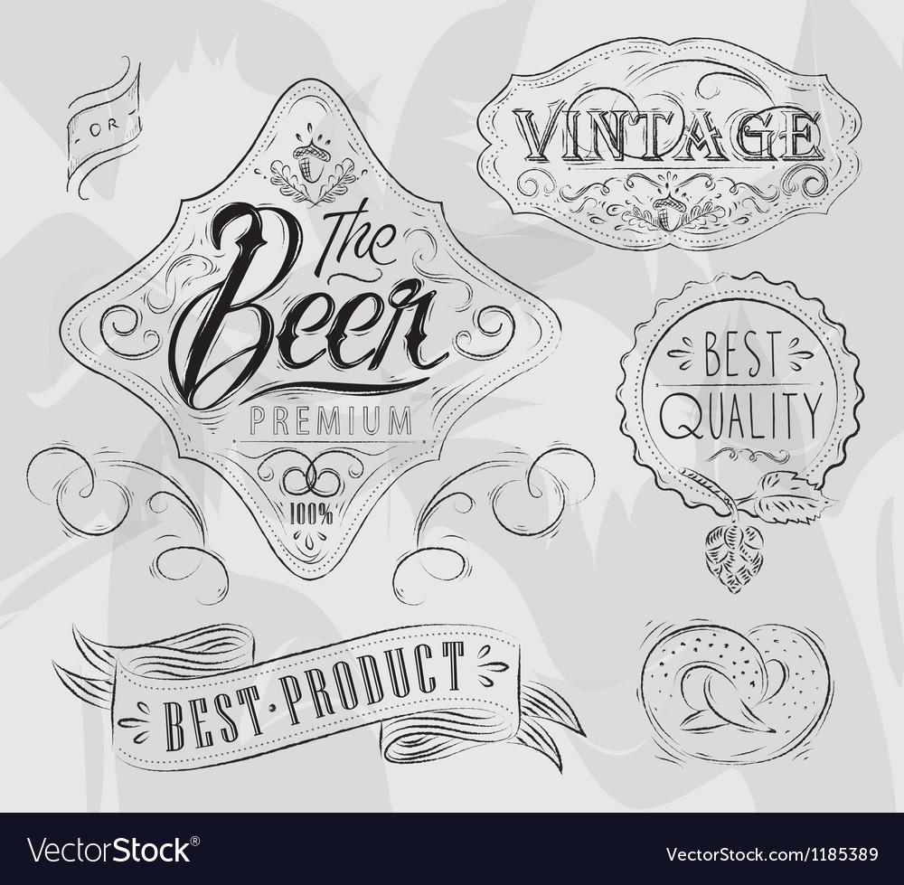 Vintage elements for pub vector