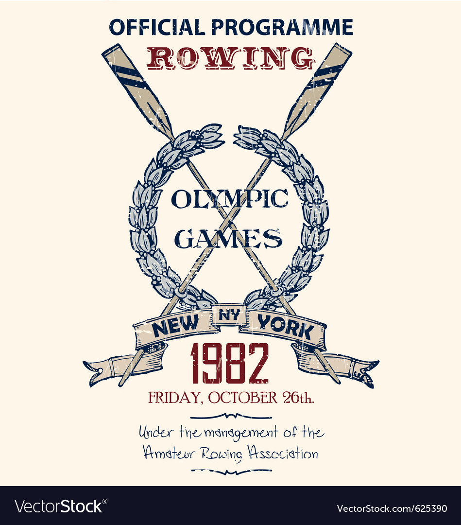 Rowing game vector