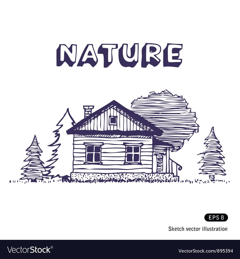Rural lodge vector