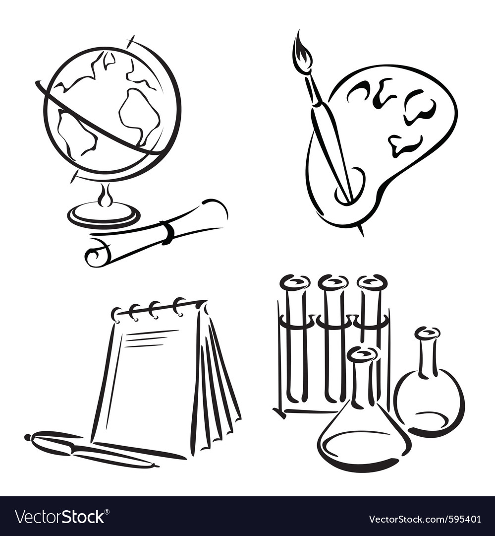 Education equipment vector