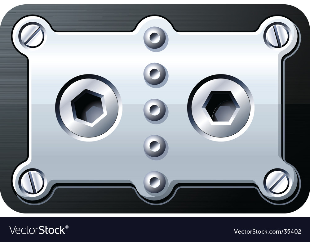 Nuts and screws vector