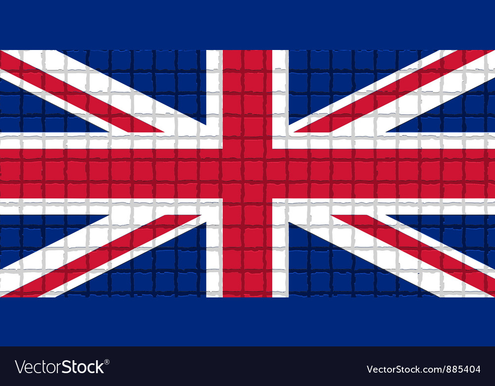 The mosaic flag of united kingdom vector