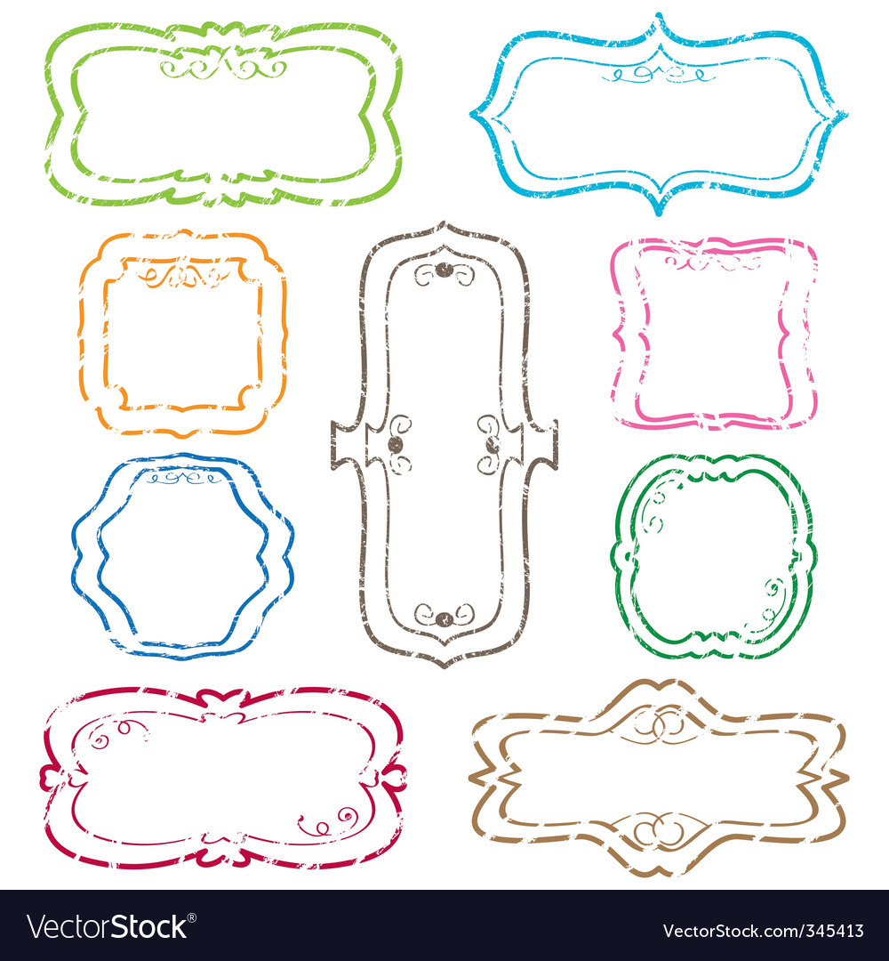 Blank Label Distressed blank labels vector