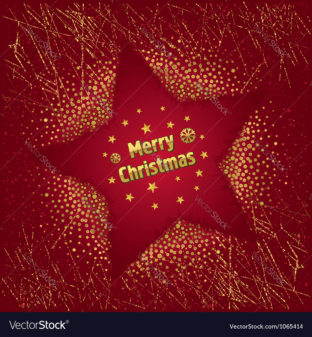 Red christmas star vector