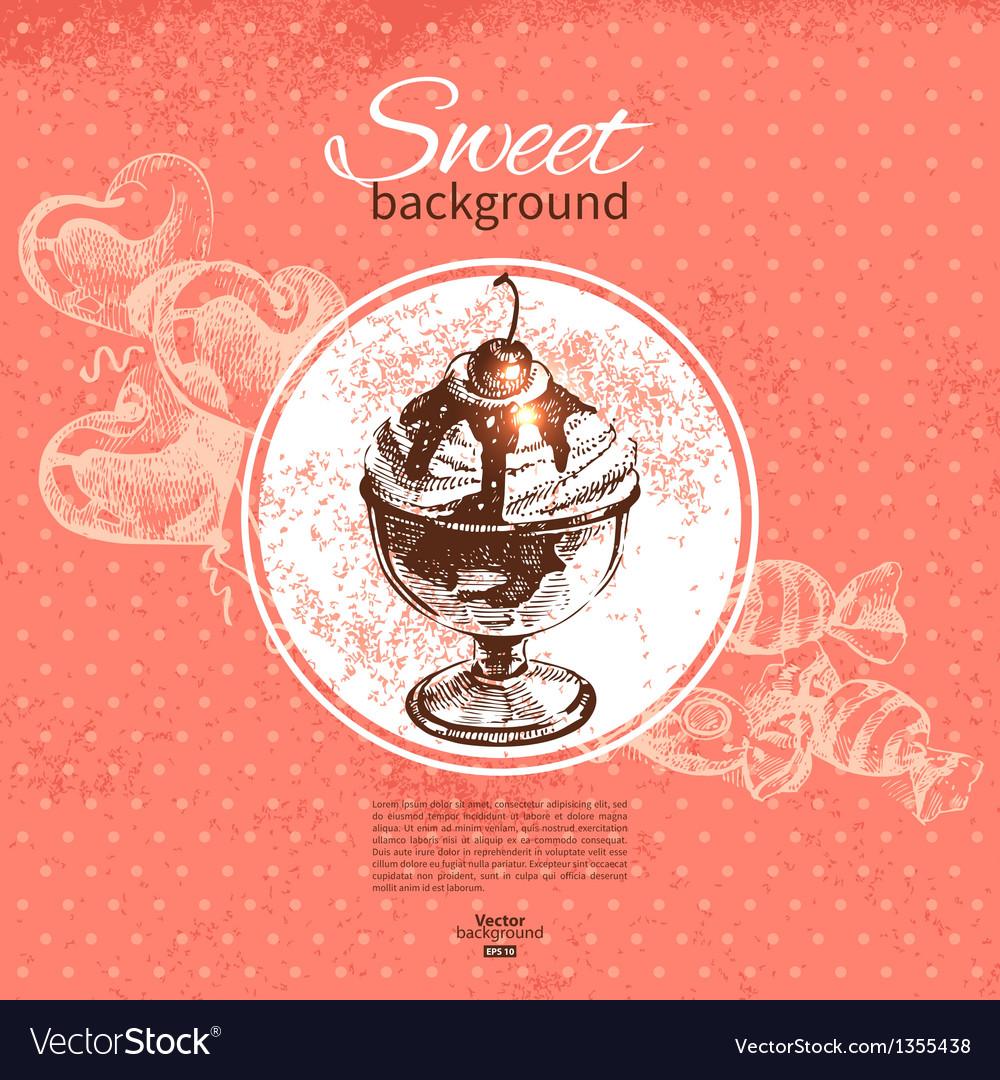 Vintage sweet background vector