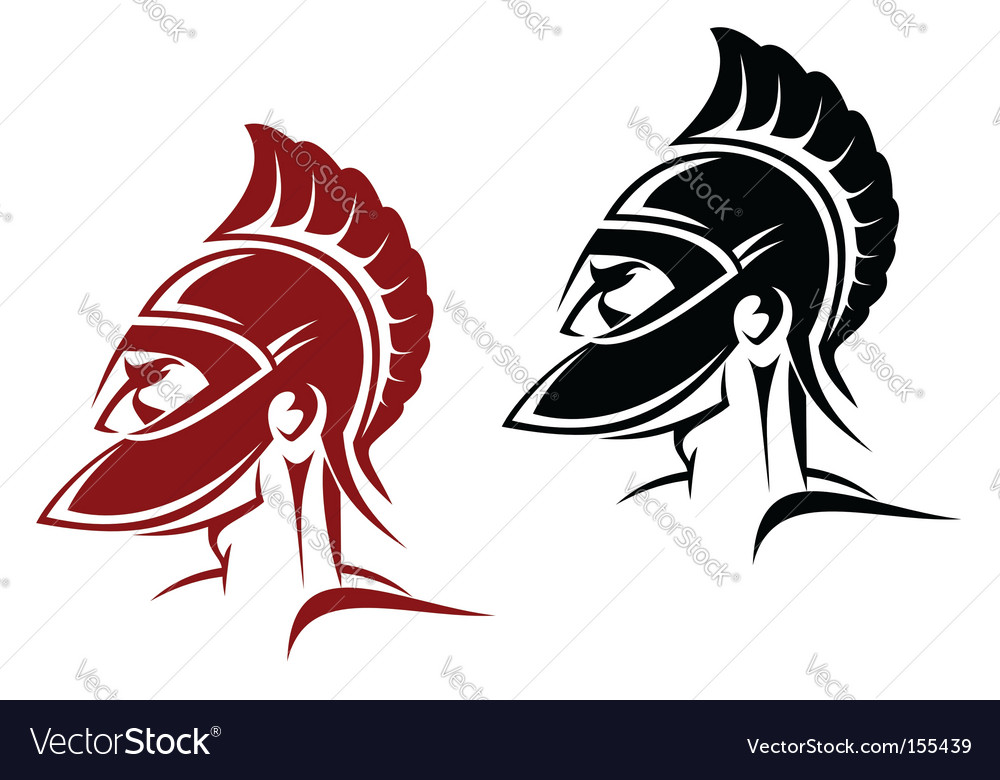 Ancient warrior vector