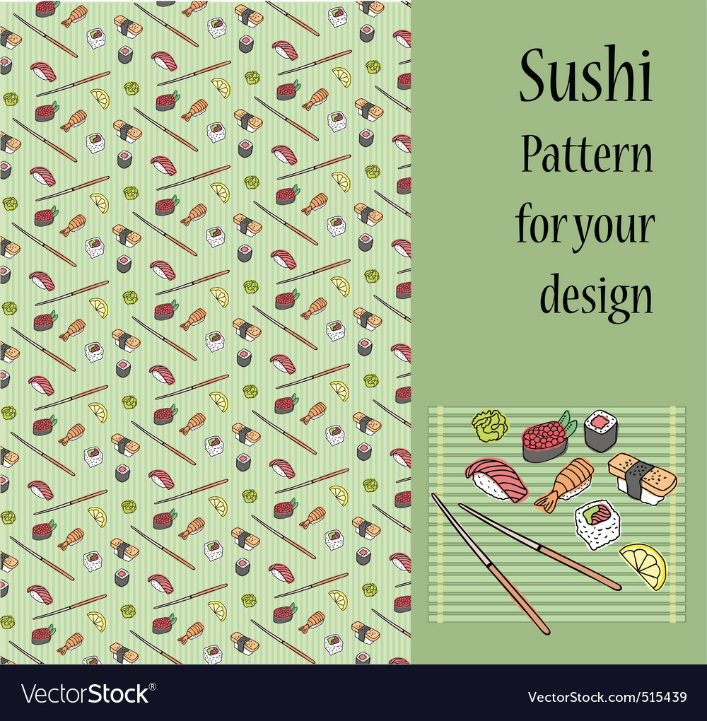 Sushi pattern vector