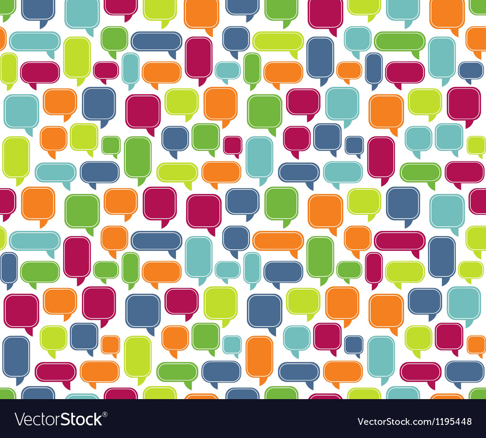 Seamless comments background vector
