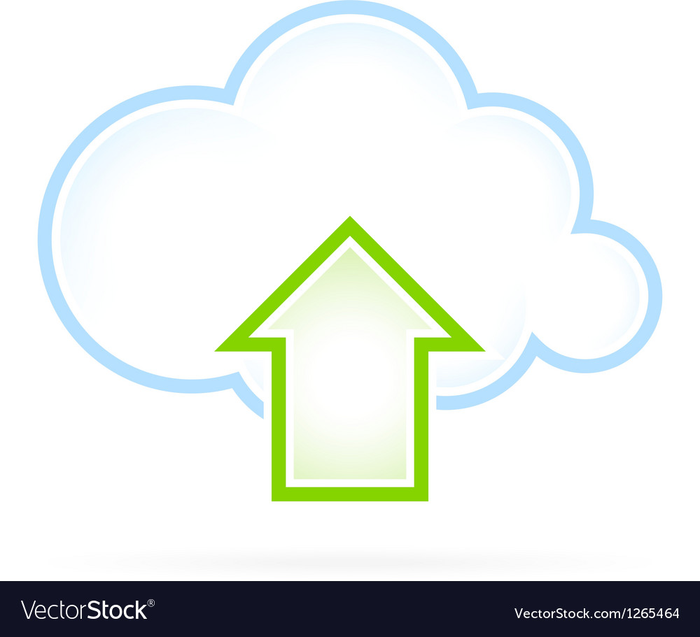 Cloud computing icon upload vector