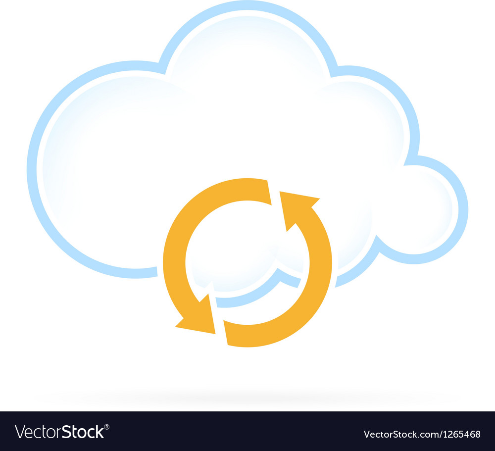 Cloud computing icon conversion vector