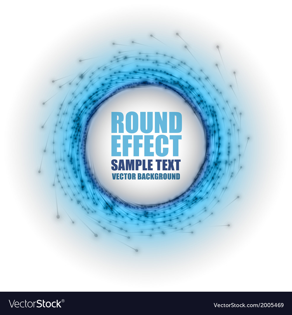 Fireworks circle blue white with text vector