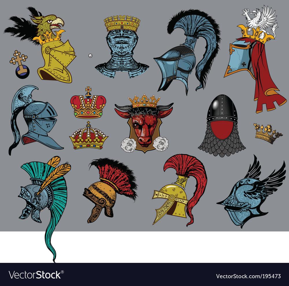 Heraldic heads vector