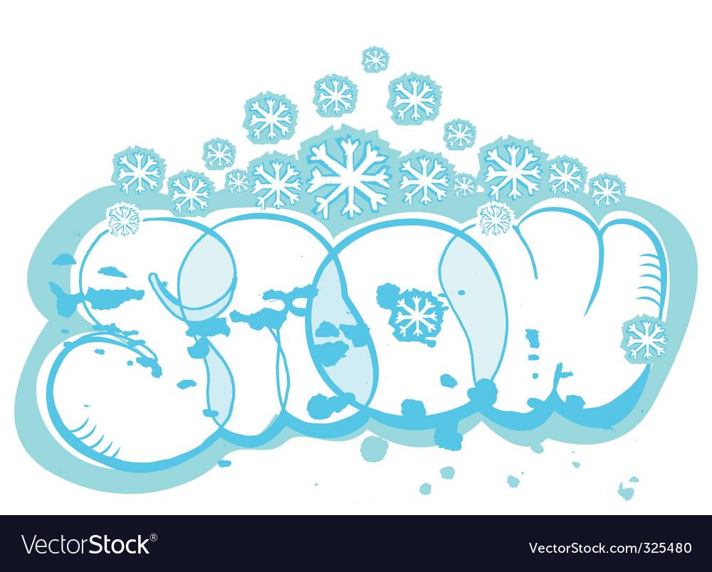 Snow illustration vector