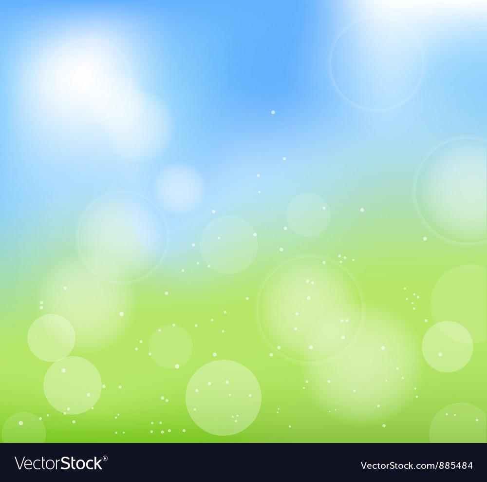 Back summer green vector