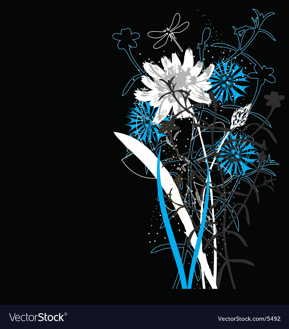 Free wild flowers vector