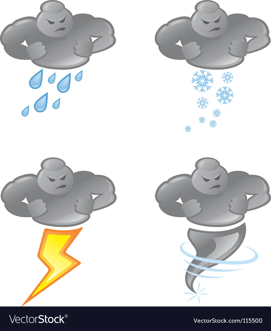 Bad weather vector