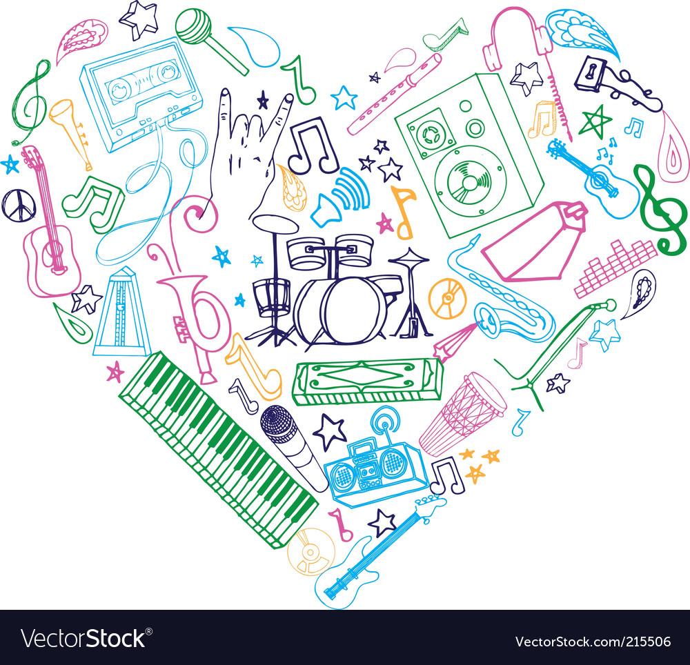 Music doodles vector