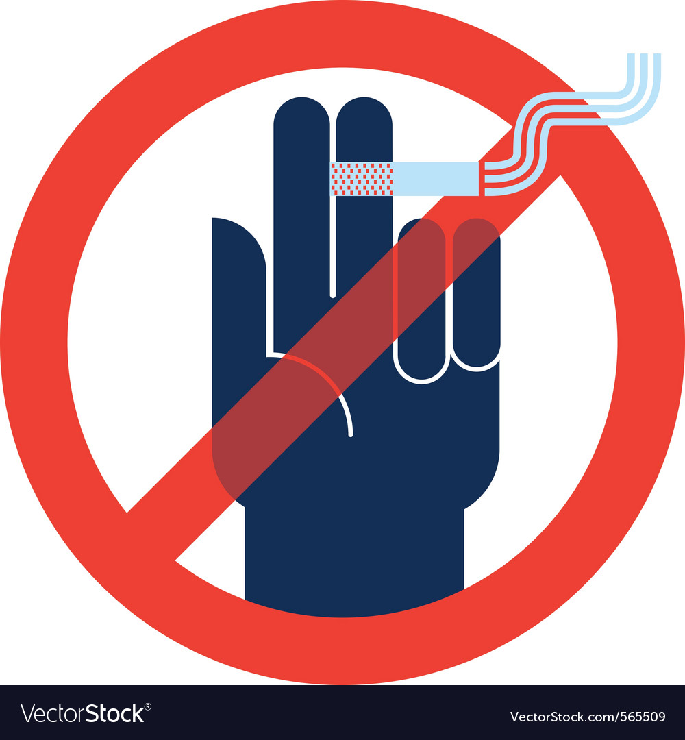 Signs no smoking vector