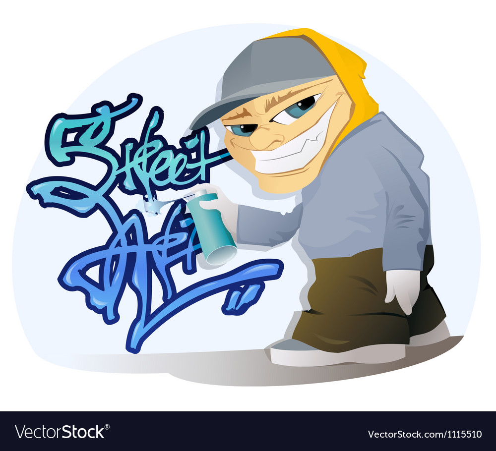 Graffiti artist vector