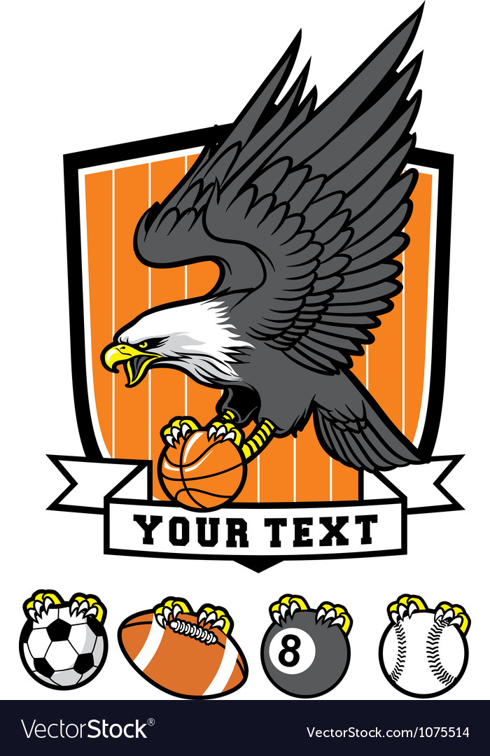 Sporty eagle mascot vector