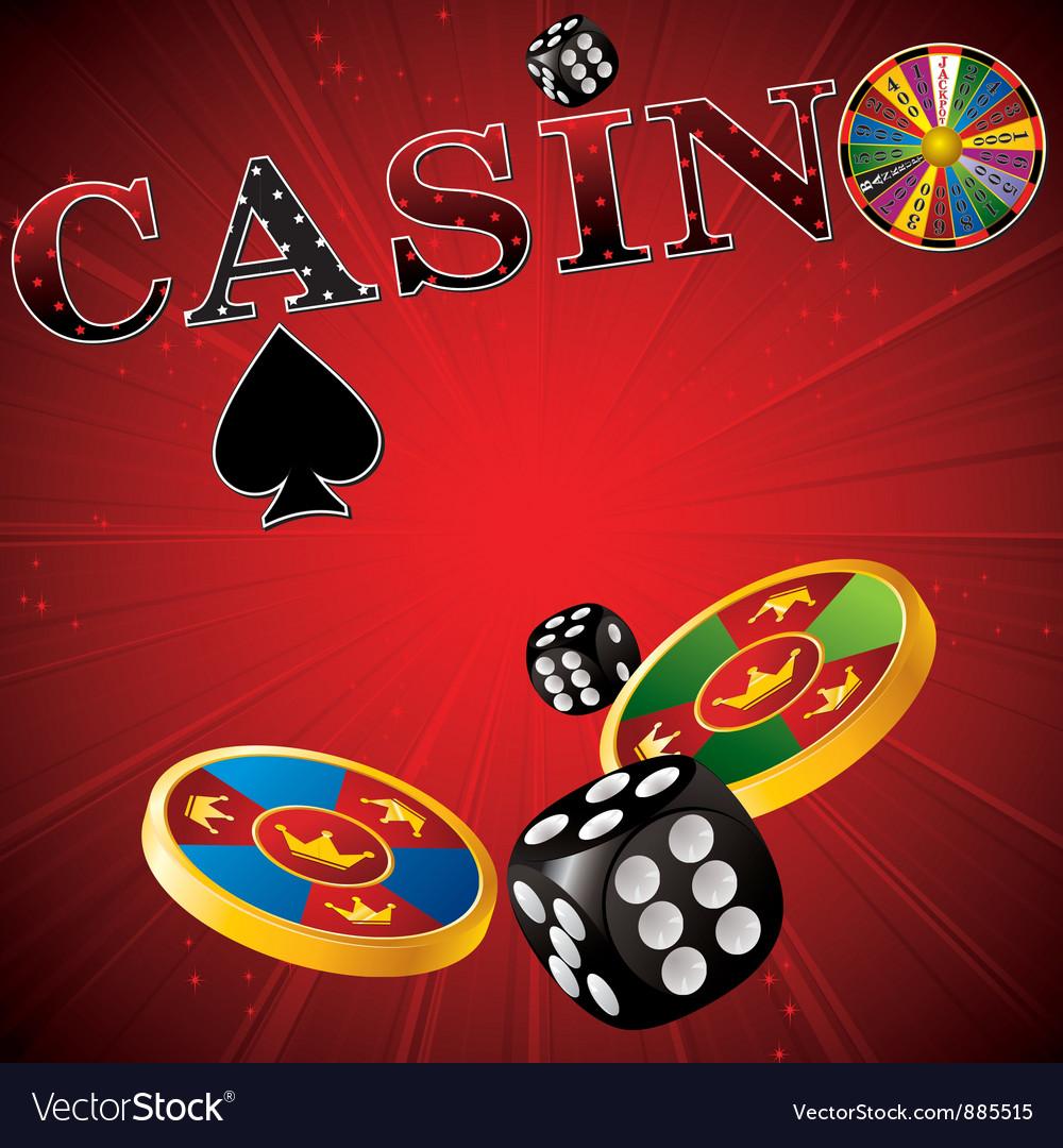 Casino red strip vector
