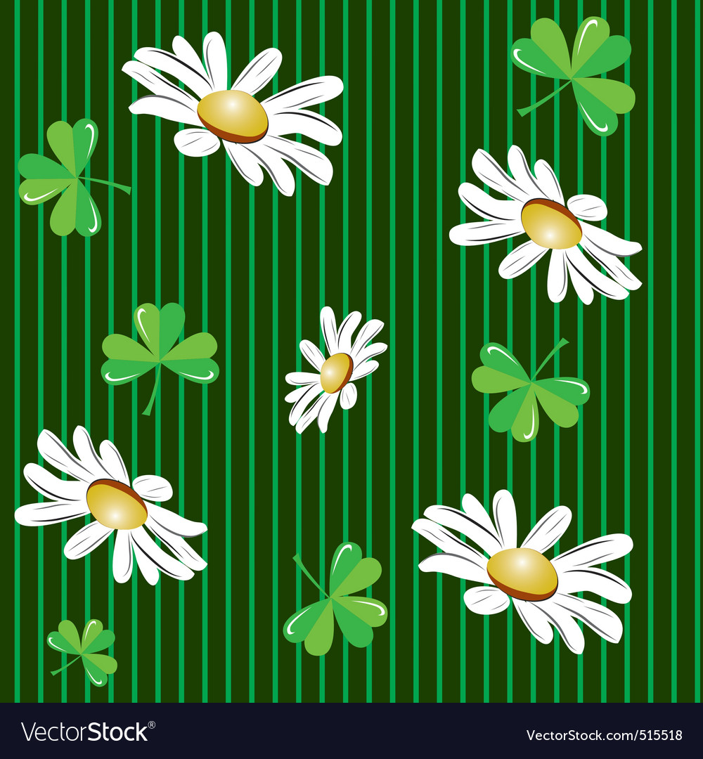 Seamless background with camomiles vector