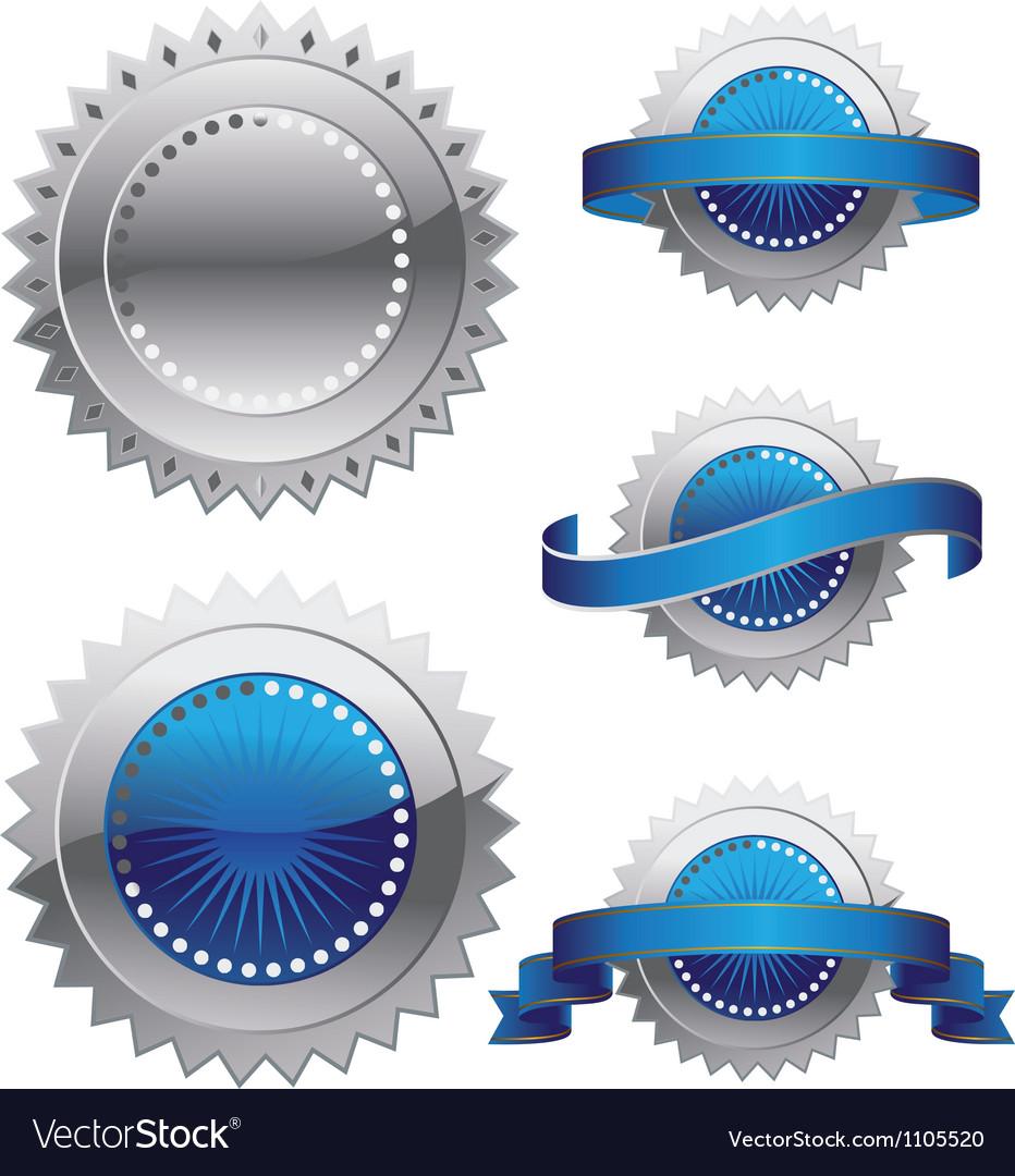 Medal rosette vector