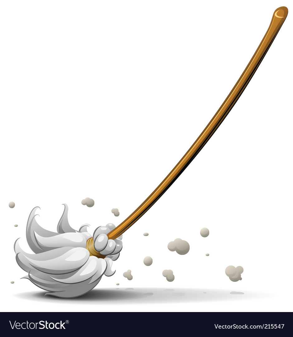 Broom sweep floor vector