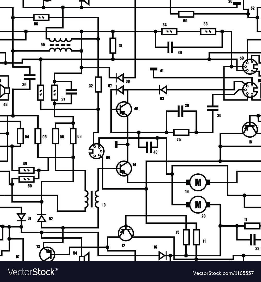 Electric schematic background vector
