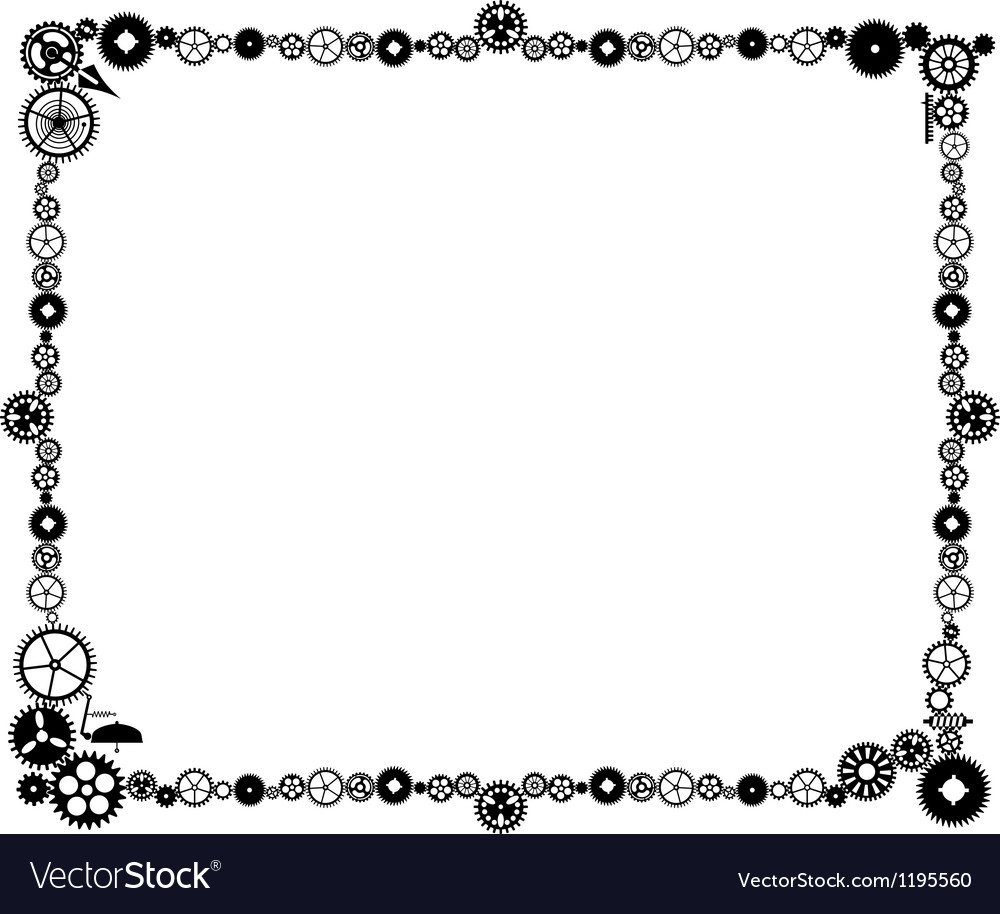 Steampunk frame made of cogs vector