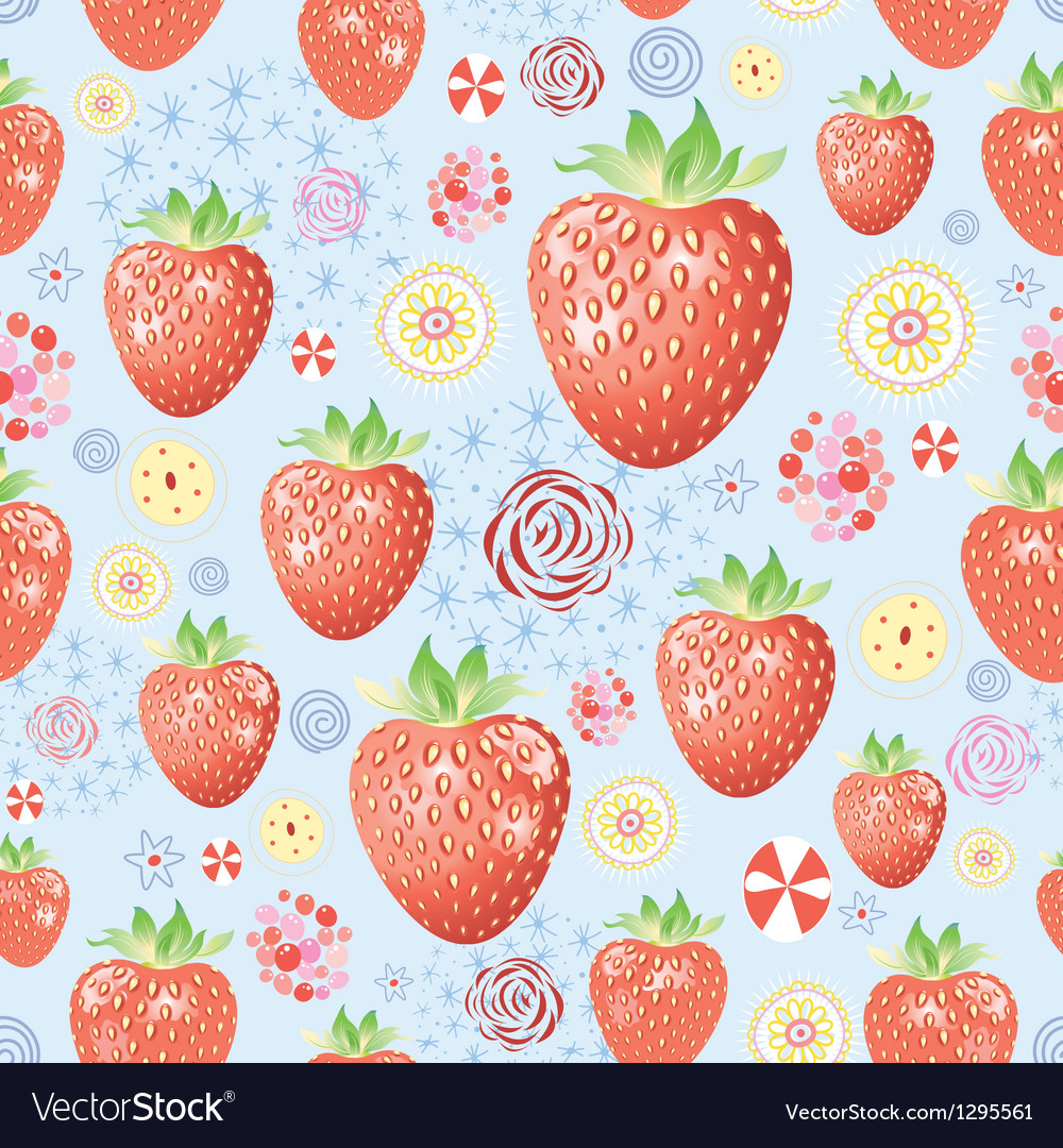 Texture of a delicious strawberry vector