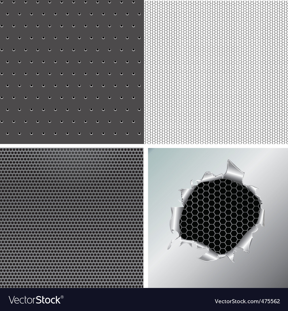 Set metallic background vector